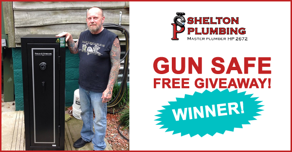 Shelton Plumbing Giveaway Winner James
